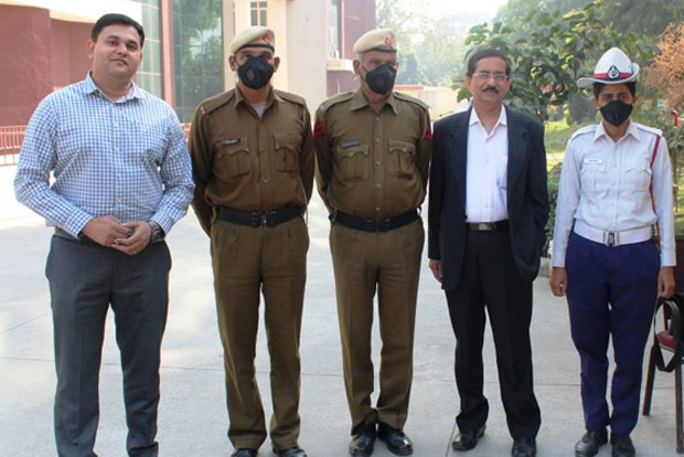 N 95 masks for gurugram police by enviro
