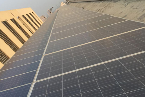 solar plant installed at all residential buildings