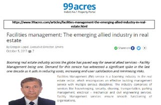 Facilities management The emerging allied industry in real estate