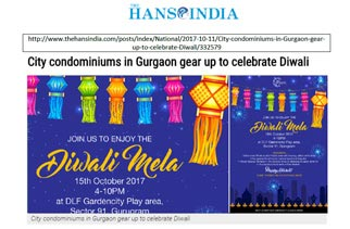 City condominiums in Gurgaon gear up to celebrate Diwali