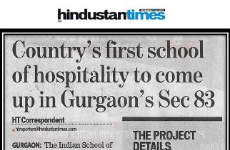 Country's first school of hospitality to come up in Gurgaon's Sect 83'