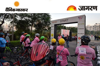 Enviro organizes CYCLOTHON presented by Cadbury Bournvita for Women at Vatika Professional Point