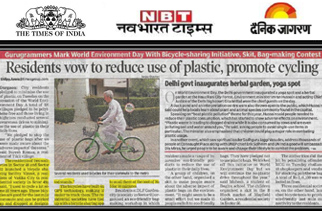 Gurugram residents vow to reduce use of plastic, promote cycling
