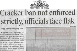 Cracker ban not enforced strictly, officials face flak