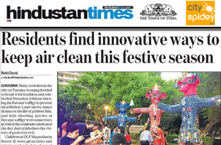 Residents find Innovative Ways to Keep Air Clean this Festive Season