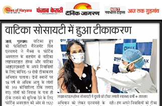 Enviro organizes vaccination drives for its residents in Gurgaon