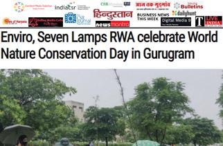 Enviro, Seven Lamps RWA celebrate World Nature Conservation Day in Gurugram