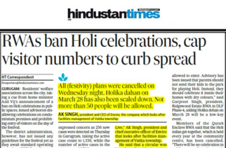 RWAs ban Holi celebrations, restrict entry of visitors